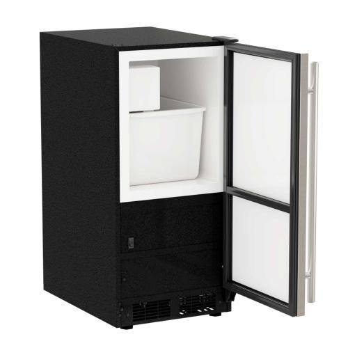 15-In Low Profile Built-In Crescent Ice Maker with Door Swing - Reversible