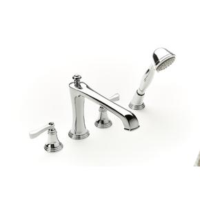 Roman Tub Faucet with Hand Shower Berea (series 11) Polished Chrome