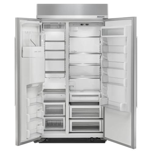 25.0 cu. ft 42-Inch Width Built-In Side by Side Refrigerator with PrintShield™ Finish - Stainless Steel with PrintShield™ Finish