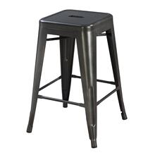 "Dakota II 24"" Bar Stool Gunmetal Gray"