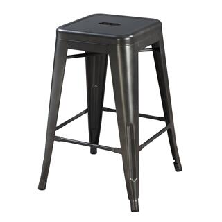 "Dakota II 24"" Bar Stool Gray"