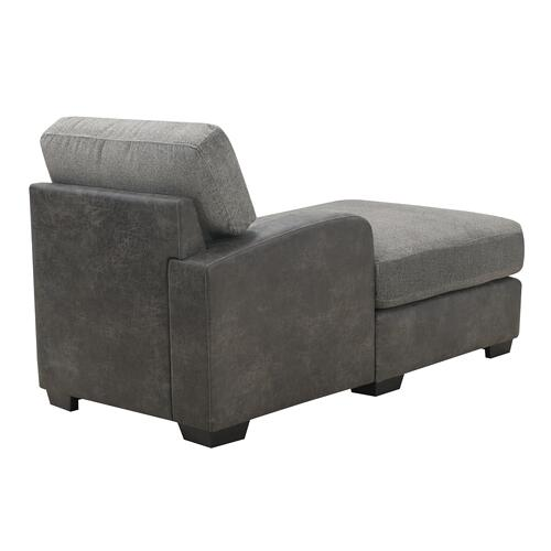 Berlin Modular Lsf Chaise, Gray Herringbone & Sanded Microfiber U4551-41-03