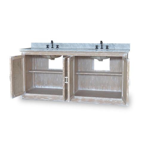 Wilmington Double Vanity w/ Sink & Marble top