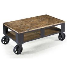 See Details - Rectangular Cocktail Table (2 Braking Casters)