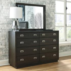 Hyndell Bedroom Mirror Dark Brown