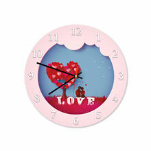 Tree Love Round Acrylic Wall Clock