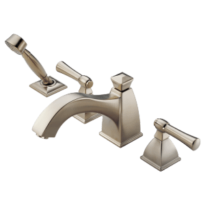 Roman Tub Faucet With Curve Spout and Handshower Product Image