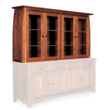 "Aspen Closed Hutch Top, 84 1/2"", Antique Glass"