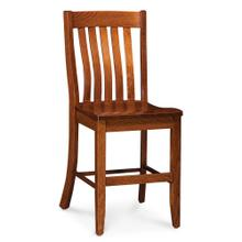 """See Details - Bradford Stationary Barstool, 30"""" Seat Height / Fabric Cushion Seat"""