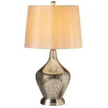 Black & Silver Mercury Finish Table Lamp. 60W Max.
