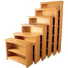 "48"" Wide Alder Shaker Bookcases - Multiple Height Options"