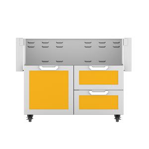 """42"""" Hestan Outdoor Tower Cart with Door/Drawer Combo - GCR Series - Sol"""