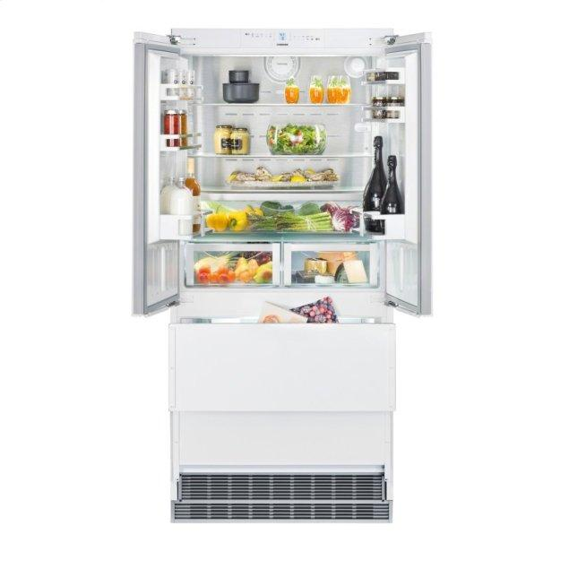 Liebherr Combined refrigerator-freezer with NoFrost for integrated use