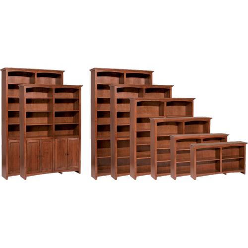 """Whittier Wood Furniture - McKenzie 48""""W bookcase"""