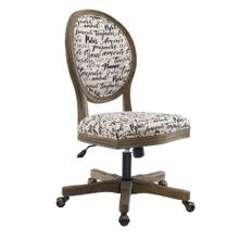 Upholstered Office Chair, Rustic Gray