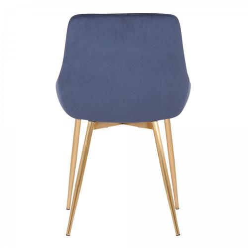 Heidi Blue Velvet Dining Accent Chair