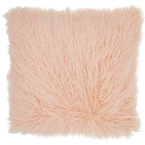 "Faux Fur Bj101 Rose 17"" X 17"" Throw Pillow"