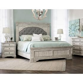 Highland Park King Bed, Cathedral White