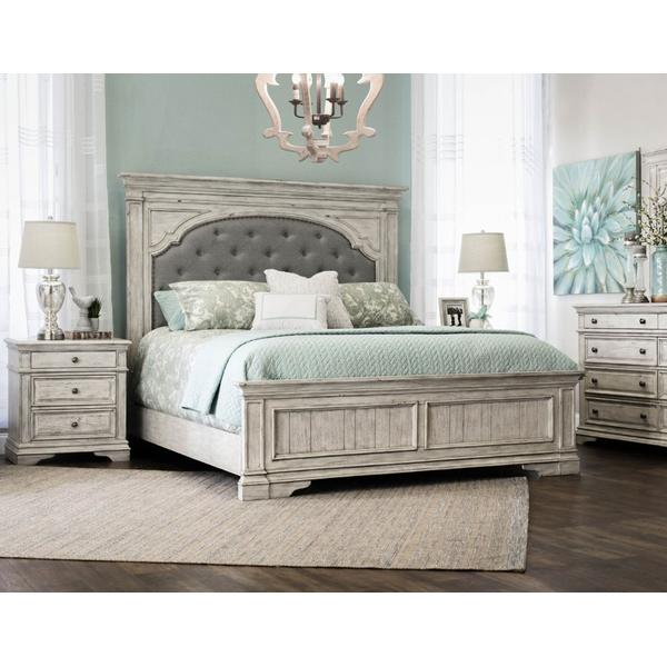 Highland Park Queen Bed, Cathedral White