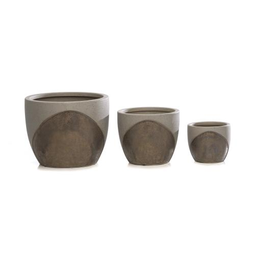 Swoosh Umber Cachepot - Set of 3