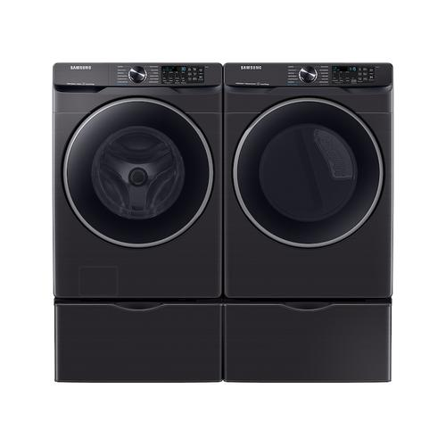 Samsung - 5.0 cu. ft. Extra-Large Capacity Smart Front Load Washer with Super Speed Wash in Brushed Black