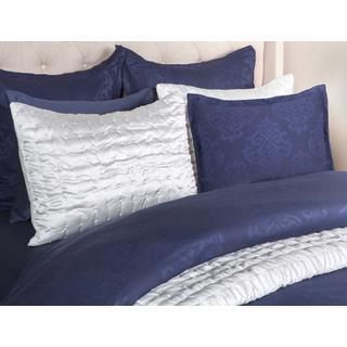 See Details - Francis Jacquard Indigo Queen Duvet 92x90