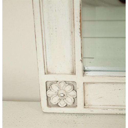 Huntleigh - Landscape Mirror - Vintage White Finish