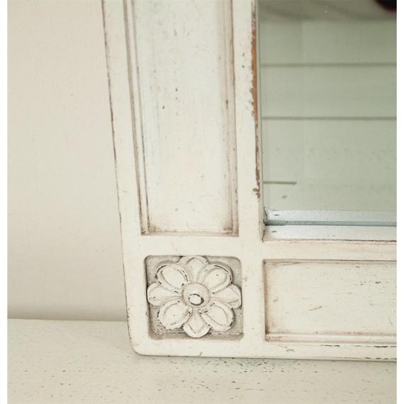 Riverside - Huntleigh - Landscape Mirror - Vintage White Finish