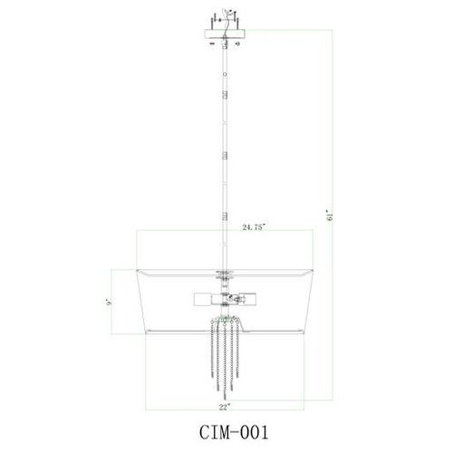 """Cimarron CIM-001 27""""H x 24.75""""W x 24.75""""D"""