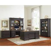 Regency - Lateral File Cabinet - Antique Oak/matte Black Finish Product Image