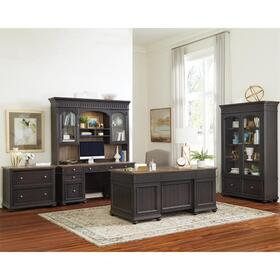 Regency - Executive Desk - Antique Oak/matte Black Finish