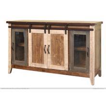 "Product Image - 60"" TV Stand w/2 Glass doors w/1 middle shelf, 2 Sliding doors, w/2 shelves"