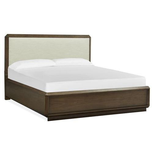 Magnussen Home - Complete Cal.King Panel Bed w/Upholstered Headboard