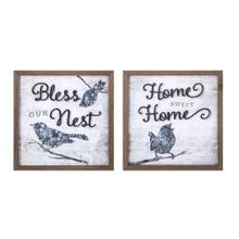 TY Bluebird Wall Decor - Ast 2