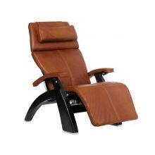 """Perfect Chair ® PC-LiVE """" - Cognac Premium Leather - Matte Black"""