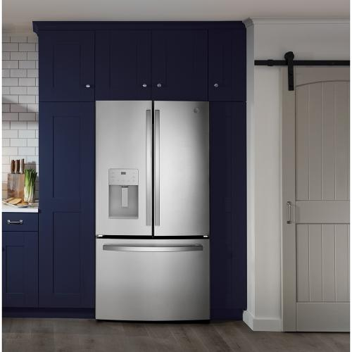 GE® Energy Star® 25.6 Cu. Ft. French-Door Refrigerator Fingerprint Resistant Stainless Steel - GFE26JYMFS