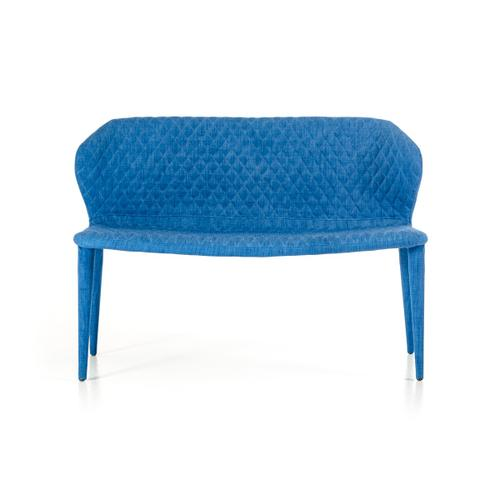 Modrest Astoria Blue Fabric Dining Bench