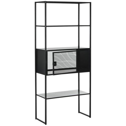 Abay 31.5- Inch Width Storage Bookshelf - Black