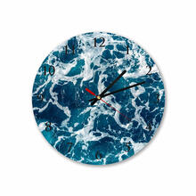 Sea Water Round Square Acrylic Wall Clock