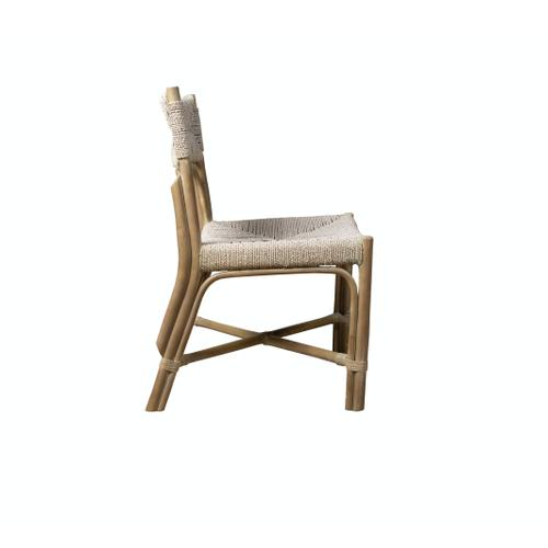 Capris Furniture - Side Chair, Grey Twine Finish.