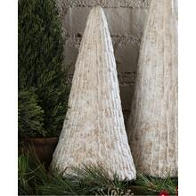 Small Rustic White Ceramic Christmas Tree