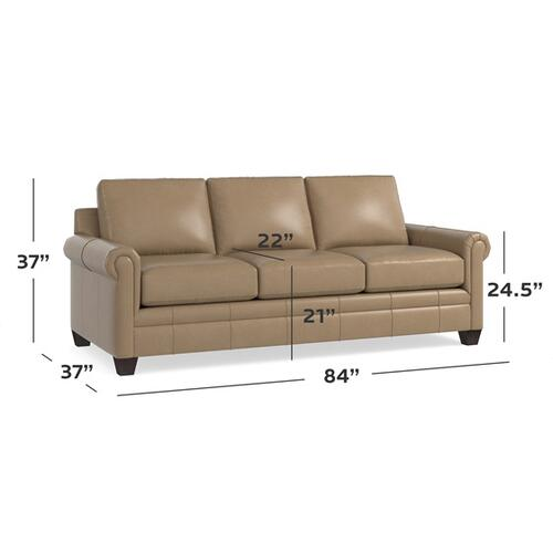 Bassett Furniture - Carolina Leather Panel Arm Queen Sleeper