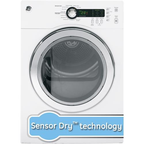 GE 4 cu. ft. Electric Compact Dryer White PCVH480EKWW