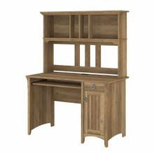 View Product - Small Computer Desk with Hutch, Reclaimed Pine