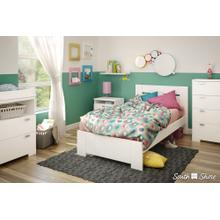 Complete Bed with Headboard - Pure White
