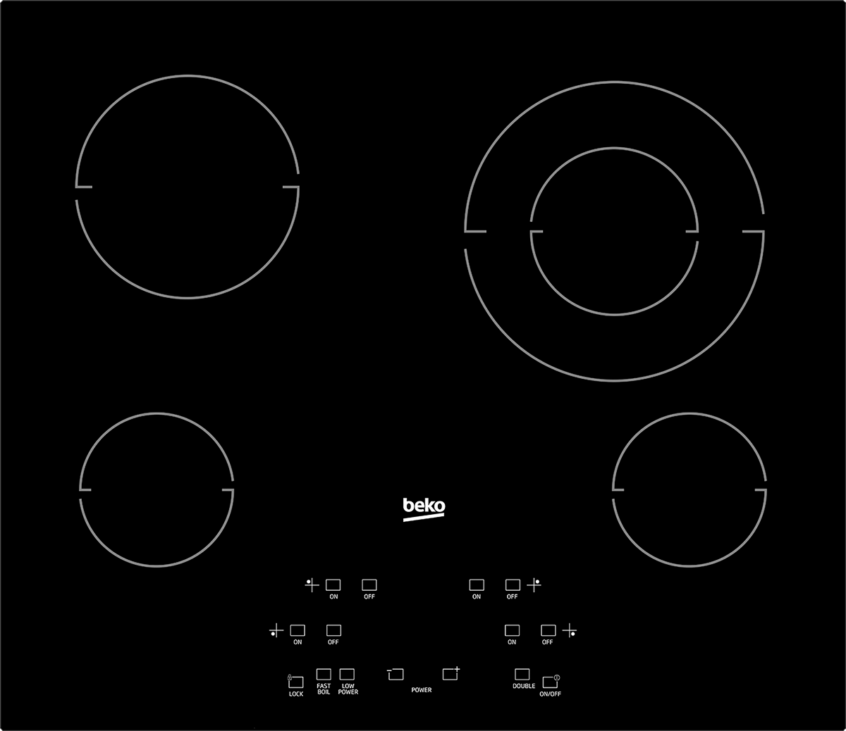 """24"""" Built-In Electric Cooktop with 4 Burners and Touch Control"""
