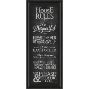 "Classy Art - ""House Rules"" By Susan Ball Framed Print Wall Art"