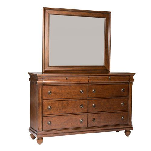 Liberty Furniture Industries - King Sleigh Bed, Dresser & Mirror, Chest, Night Stand