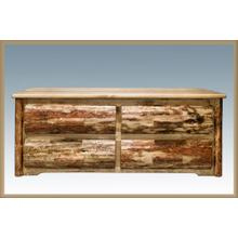 Glacier Country Rustic 4 Drawer Sitting Chest