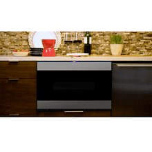 "24"" Microwave Drawer, Stainless Steel, Black Glass Finish, ""Easy Wave Open"" Motion Sensor"